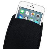 El bolso protector de la bolsa del neopreno flexible suave elástico negro para el iPhone protege la caja de la bolsa de las fundas