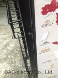 Fabrik-kundenspezifische Bier-Ausstellungsstand-Wein-Schaukasten-Nahrungsmittel-und Getränkebildschirmanzeige-Zahnstange