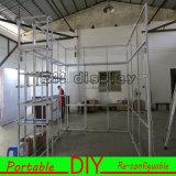 Le salon en aluminium de vente chaud que l'étalage facile installent le dessin de PVC a personnalisé la cabine portative d'exposition de 10FT*20FT