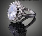 Het Kristal van de Luxe van de manier belt de Donkerblauwe Witte Ring J01800 van het Kristal