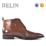 La dentelle robe zip jusqu'en cuir véritable bottes pour hommes