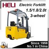 1.5 2 2.5 Forklift da bateria de 3 toneladas com o acumulador e o carregador de 48V 80V