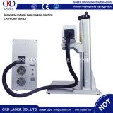Laser-Radierungs-System der Faser-20W für Markierungs-Firmenzeichen auf Tasten-Batterie