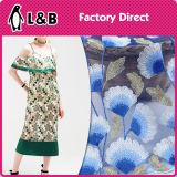la maglia floreale 3D ha basato il tessuto del merletto per vestiti