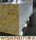 SGS сертифицированных рок шерсть Sandwcih панель для изготовления стальных материалов