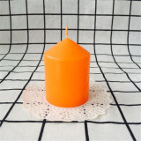 Померанцовая малая остроконечная верхняя свечка штендера для промотирования