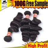 100%の加工されていないブラジルのバージンの毛のベンダー