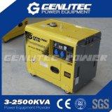 Generador diesel silencioso refrescado aire 5kw del solo cilindro
