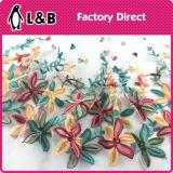Le velours de coton Tricot de polyester Tissu + dentelle