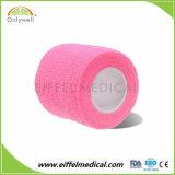 Cuidados para animais de estimação não tecidos Sports e auto-adesivo colorido bandagem coesa elástica