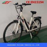 Bici elettrica della donna di buona prestazione con la sede di Carrier&Basket&Back