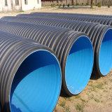 Alcantarilla de la pared doble del HDPE y tubo acanalados del drenaje del fabricante chino
