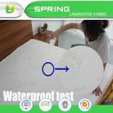 Formato impermeabile del doppio della protezione del materasso del panno morbido di corallo di lusso