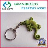 Anelli portachiavi di modo di promozione, PVC Keychain, catena chiave di gomma