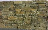 De Chinese Natuurlijke Gele Roestige Lei van het Mozaïek van de Steen van de Cultuur voor de Bekleding van de Muur