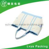 Auditoria de fábrica promocional impresso personalizado sacola de compras de mercearia Saco de lona de algodão