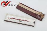 Cubierta determinada de papel clásica del rectángulo de joyería con el Bowknot de seda de la cinta