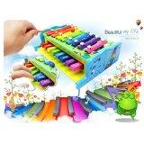Los niños bebé 8 Nota de madera de forma de elefante xilófono Instrumentos Musicales juguetes educativos