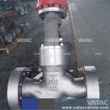Brida industrial o Bw termina fundición de hierro forjado y Acero Inoxidable de la válvula de globo