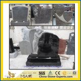 Bianco/nero/grigio/rosso/blu/verde/granito/marmo/memoriale/pietra tombale viola giardino/del cimitero con Stytle (europeo/americano/cinese/giapponese/russo) di angelo