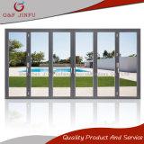 Excelente economia de espaço Bi-Folding Alumínio Porta de vidro para varanda