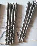 Dígito binario de taladro de martillo, SDS-Más dígito binario de taladro de martillo con final principal plano del chorreo de arena