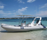 Vente gonflable de bateau de sauvetage de bateau de fibre de verre rigide de coque de Liya 20ft