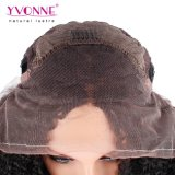 Afro-lockige Spitze-Vorderseite-Perücke-natürlicher Haarstrich für schwarze Frauen