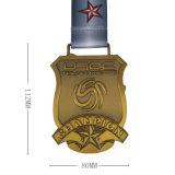 旧式な青銅によってめっきされる記念するメダルおよびリボン