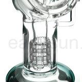 Tubi di acqua di fumo del collo del diffusore di vetro in-linea piegato del narghilé (ES-GB-221)