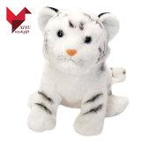 질투의 눈 견면 벨벳 장난감을%s 가진 현실적 채워진 백색 호랑이