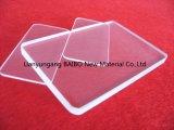 Placa de vidro de quartzo transparente quadrados