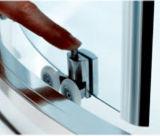 Cerco do chuveiro do quadrante com o revestimento Nano limpo fácil do Dobro-Lado