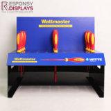 Verkaufsförderungcountertop-Acryl und Belüftung-Bildschirmanzeige-Regal mit Löchern für Schraubenzieher