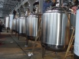 1500Lステンレス鋼の食品等級の液体の混合タンク(固定混合の速度か調節可能な混合の速度)