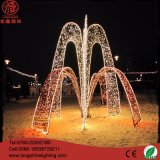 Alta qualidade do diodo emissor de luz 3D que modela luzes ao ar livre da decoração do Natal da lâmpada