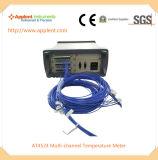 24のチャネル(AT4524)が付いている冷却装置温度のメートル