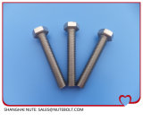 Boulon à tête hexagonale en acier inoxydable DIN933ANSI filetage complet M5X8...M5X70