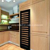 Construit dans le réfrigérateur décoratif de vin de compresseur duel de zone pour la maison