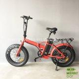 حارّ يبيع يطوي درّاجة كهربائيّة مع 4.0 دهن إطار العجلة