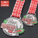 Venda a quente Custom Die Casting mais barato Medalha de níquel com fita antigo