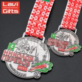 Hot Sale Custom Die Casting moins cher Antique Médaille Nickel avec ruban