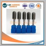 En carbure monobloc bavures rotatif 1/4'' la queue de fixation pour la découpe CNC
