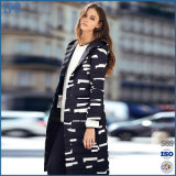 不規則な幾何学の防風の暖かさの長い女性の冬のジャケット