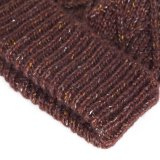 قطر أكريليكيّ يحبك [بني] قبّعة/غطاء مع يطرّز علامة تجاريّة