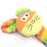 Jouet grinçant animal de crabot de jouet de peluche colorée d'animal familier