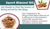 유기 감미로운 알몬드 기름 처리되지 않는 도매 알몬드 유가 자연적인 피부 관리 베비 오일