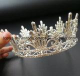 Крона 2018 самая новая подгонянная кристаллический тиар Rhinestone Stonne венчания кроны стеклянных Bridal (BC02)