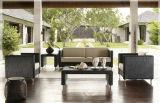 Mobilia esterna del rattan stabilito di vimini sezionale del sofà del giardino