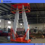 Los mástiles de aluminio de doble elevación vertical